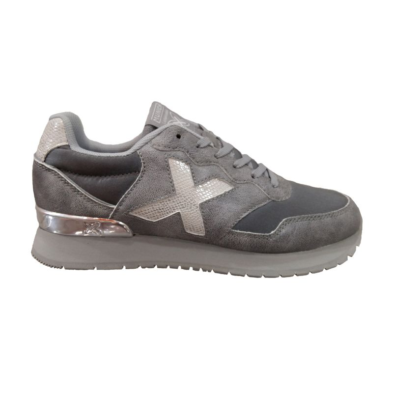 Zapatillas de niña-o MUNICH DASH KID plata 1690051