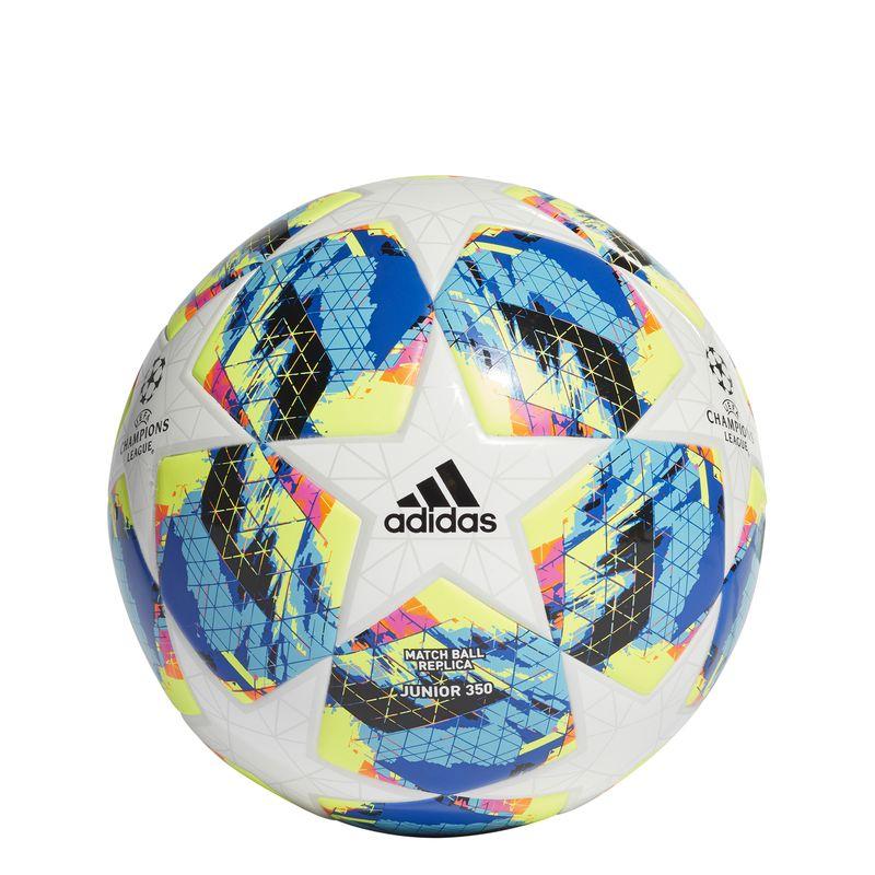 Balón réplica Champions ADIDAS FINALE TOP J350 blanco y azul DY2550