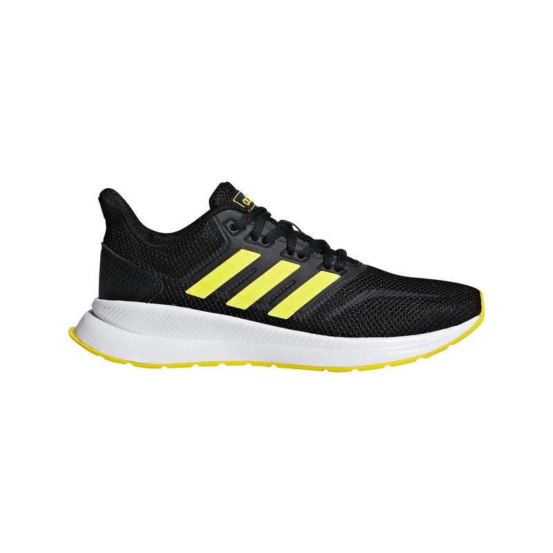 Zapatillas running de niño-a ADIDAS RUNFALCON negro y amarillo F36544