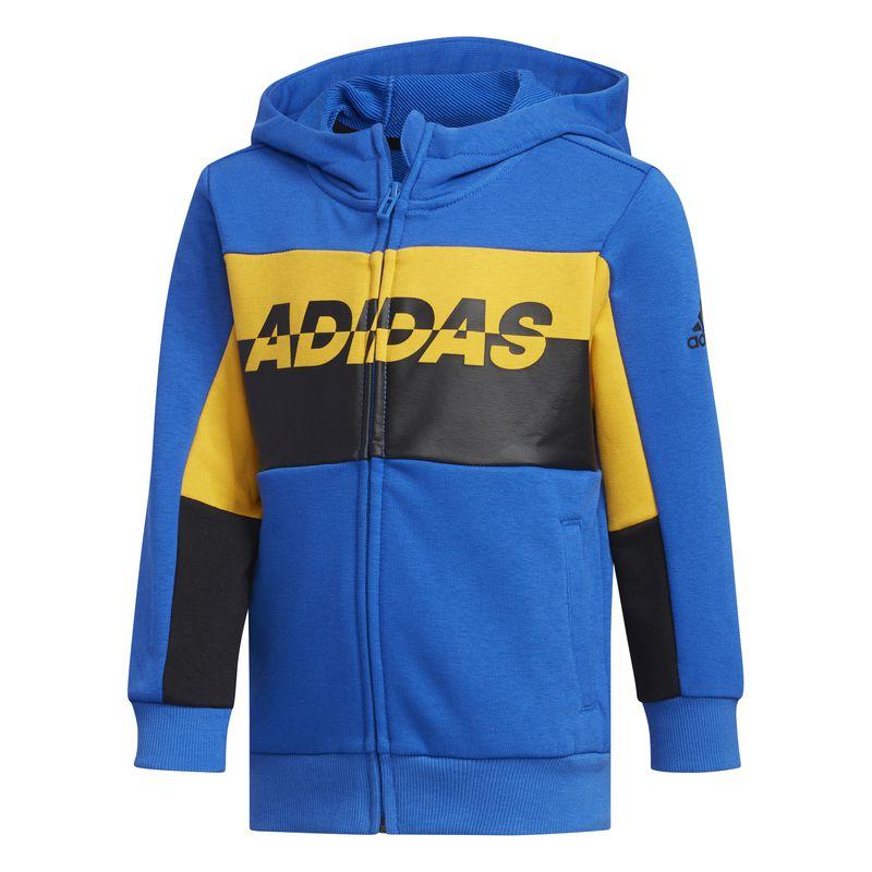 Chaqueta con capucha de niño ADIDAS FOOTBALL azul EH4047