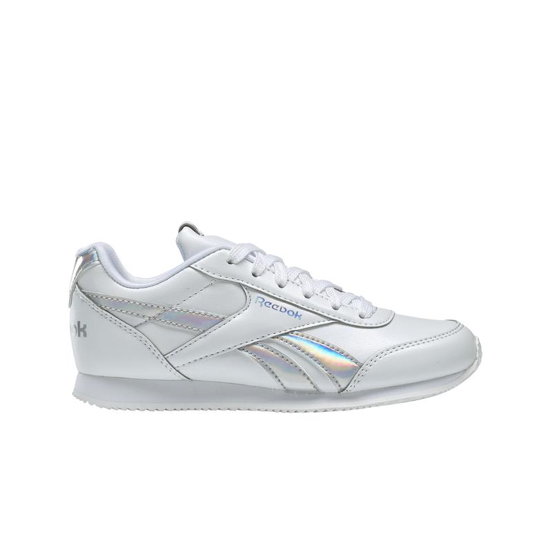 Zapatillas de niña-o REEBOK ROYAL CLASSIC JOGGER 2.0 blanco y plata DV9019