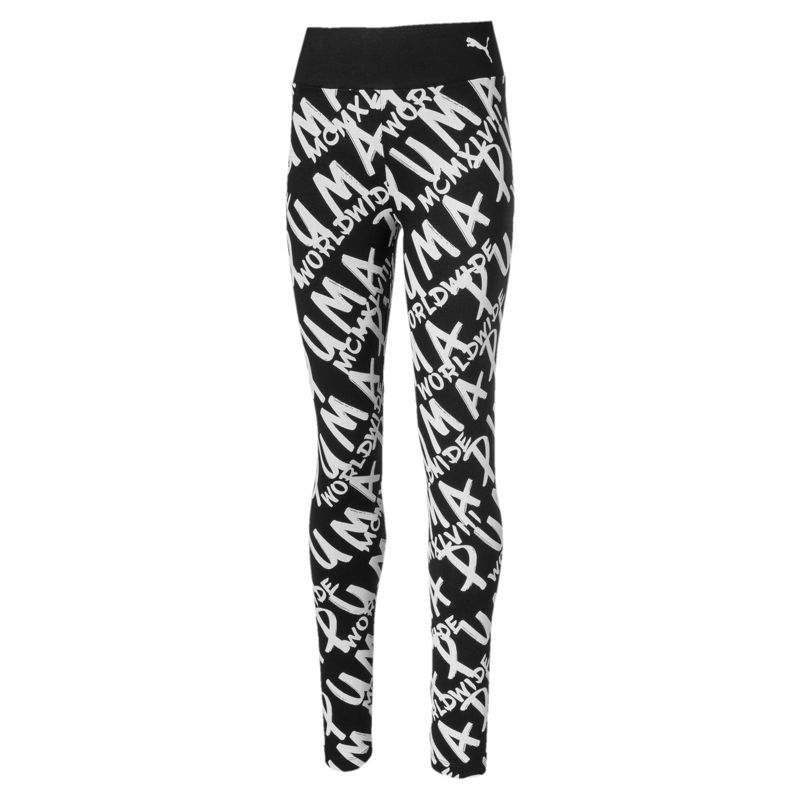 Leggings de niña PUMA ALPHA negros estampados 580221-01