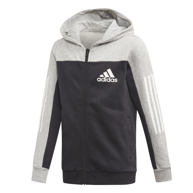 Chaqueta con capucha de niño-a ADIDAS SPORT ID gris y negra ED6516