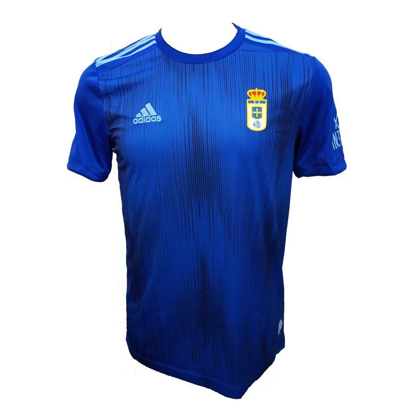 Camiseta réplica 1ª equipación de niño-a ADIDAS JR REAL OVIEDO 2019/2020 azul CE8711