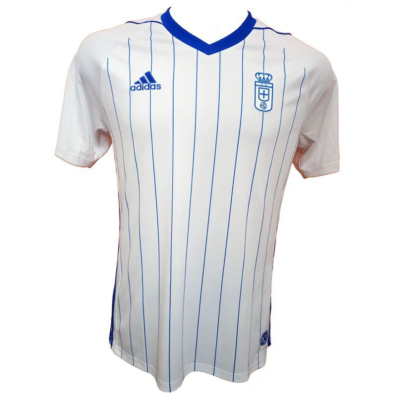 Camiseta réplica 2ª equipación de niño-a ADIDAS JR REAL OVIEDO 2019/2020 blanca y azul BR6844