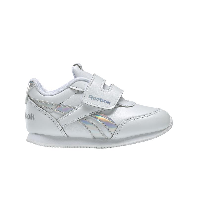 Zapatillas de niña-o pequeño REEBOK ROYAL CLASSIC JOGGER 2.0 blancas y plata DV9022