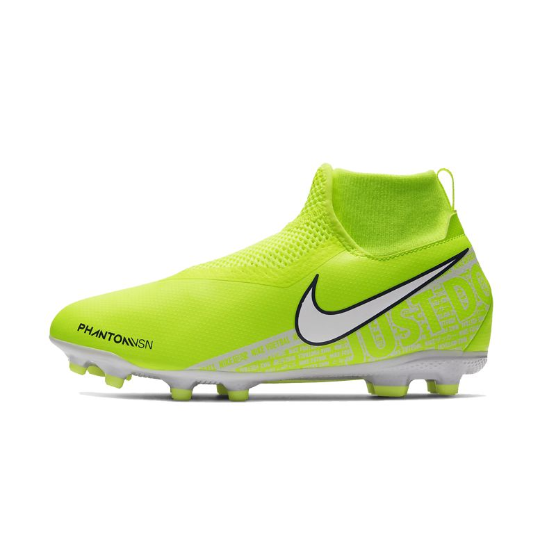 Bota de fútbol multitaco NIKE JR. PHANTOM VISION ACADEMY DYNAMIC FIT MG amarilla AO3287-717