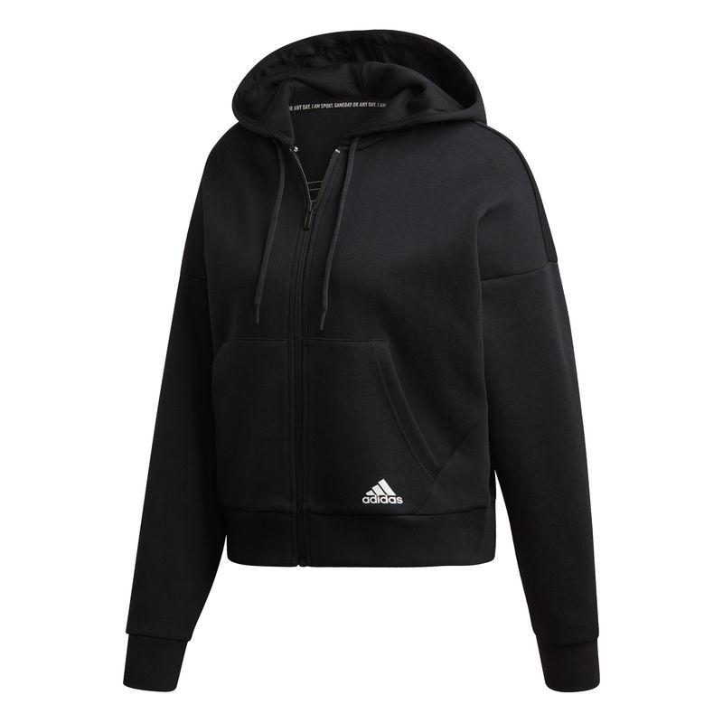 Chaqueta con capucha de mujer ADIDAS MUST HAVES 3S negra DX7970