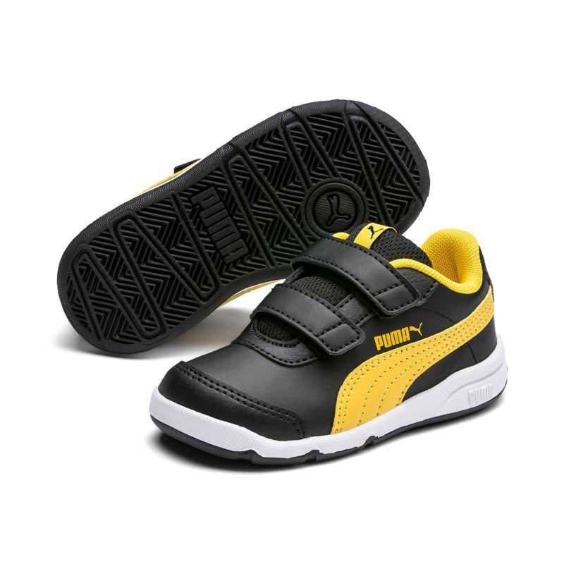 Zapatillas de niño-a PUMA STEPFLEEX 2 SL VE V negra y amarilla 192522-23_08