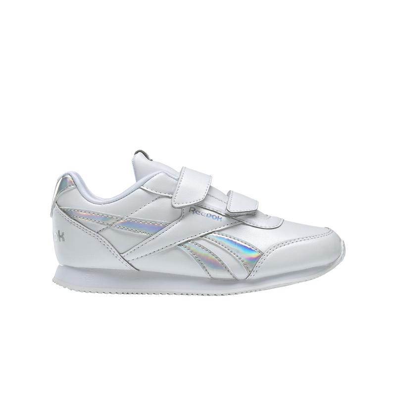 Zapatillas de niña REEBOK  ROYAL CLASSIC JOGGER 2.0 blanco y plata DV9021