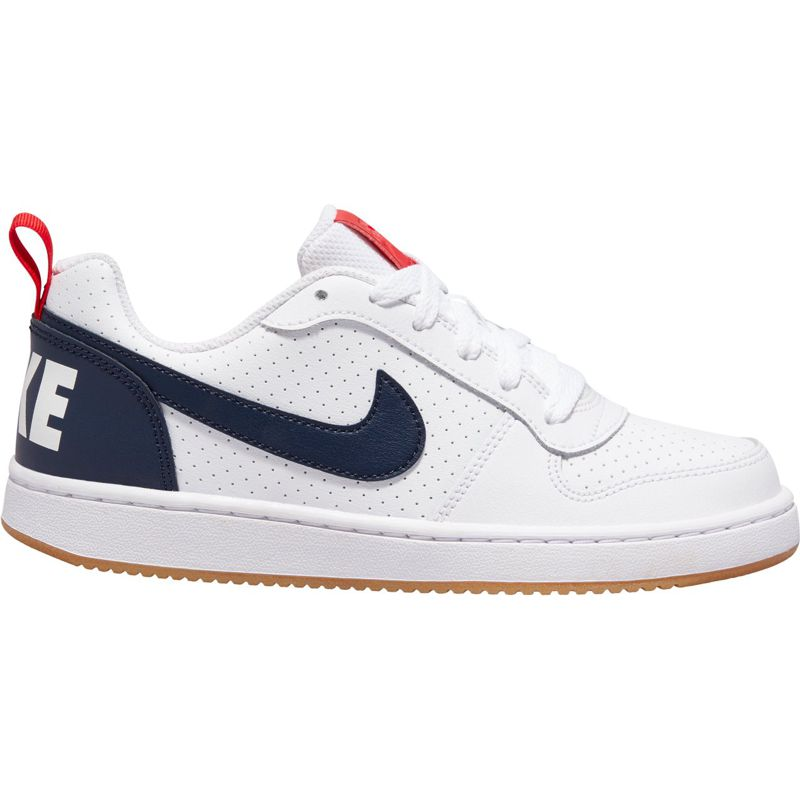 Zapatillas de niño NIKE COURT BOROUGH LOW blanco y marino 839985-105