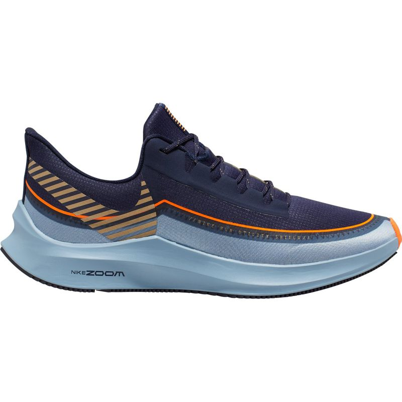 Zapatillas running NIKE ZOOM WINFLO 6 SHIELD azul y marino BQ3190-400