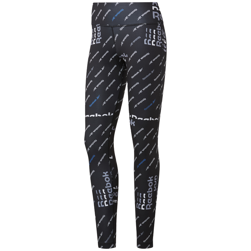Malla larga de mujer REEBOK WORKOUT READY ALLOVER PRINT negra FK6865
