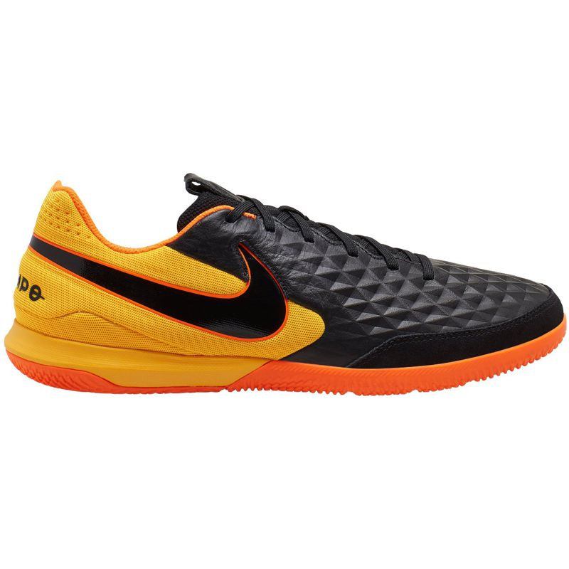 Zapatillas fútbol sala NIKE LEGEND 8 ACADEMY IC negra y naranja AT6099-008