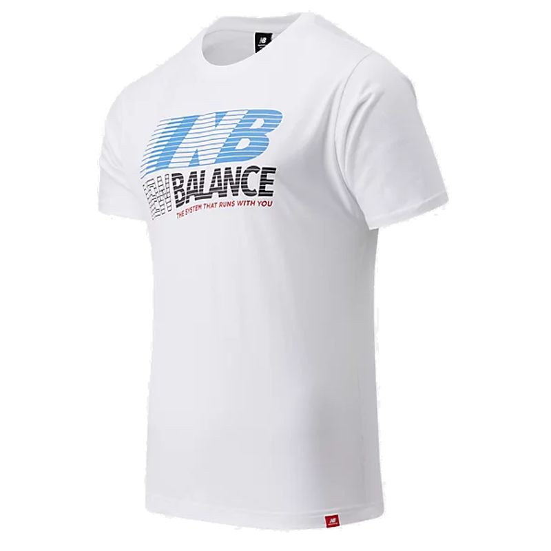 Camiseta manga corta NEW BALANCE ESSENTIALS SPEED blanca MT03513WT