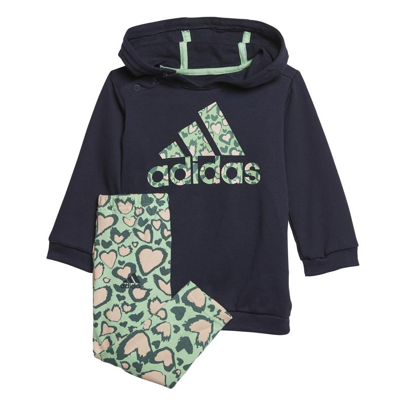 Conjunto vestido y leggings bebé ADIDAS DRESS SET marino, verde y estampado