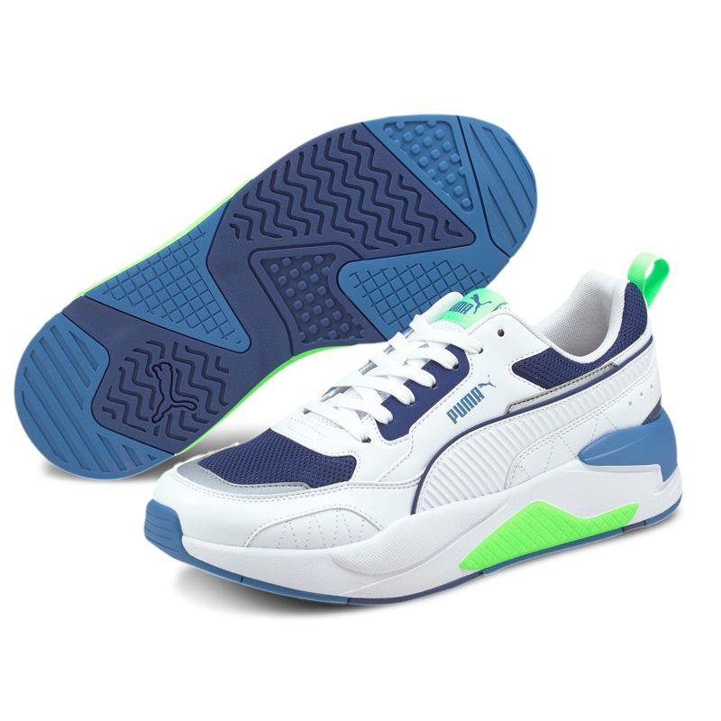 Zapatillas PUMA X-RAY 2 SQUARE blanco y azul 373108-14